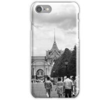 BW Thailand Bangkok Tourist royal palace entrance 1970s iPhone Case/Skin