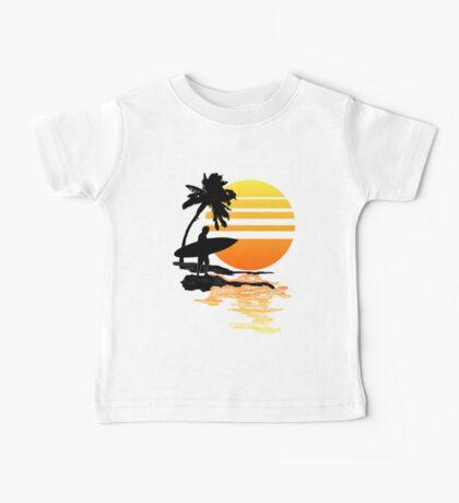 Surfing Sunrise Baby Tee