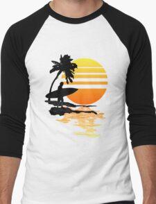 Surfing Sunrise Men's Baseball ¾ T-Shirt
