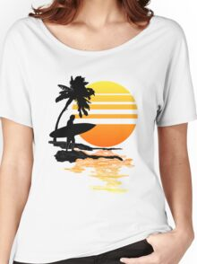 Surfing Sunrise Women's Relaxed Fit T-Shirt