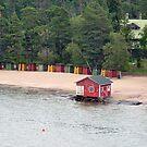 Beach Cabanas, Helsinki, Finland by James J. Ravenel, III