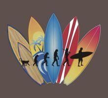 Surfing Evolution Baby Tee