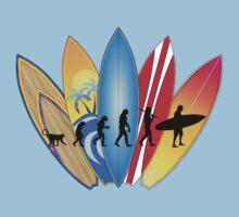 Surfing Evolution Kids Tee