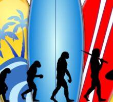 Surfing Evolution Sticker