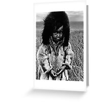USA Alaska eskimo boy 1970s Greeting Card