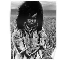 USA Alaska eskimo boy 1970s Poster