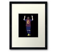 Lionel Messi Minimalist design Framed Print