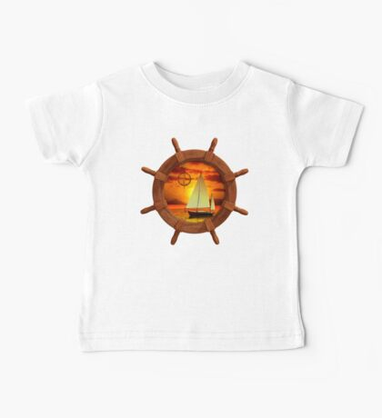 Sailboat And Compass Rose Baby Tee