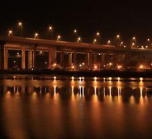 Medway Bridge Night by Dave Godden
