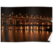 Medway Bridge Night Poster