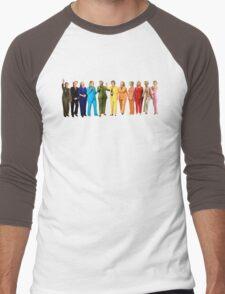 Hilary's Rainbow Pantsuits  Men's Baseball ¾ T-Shirt