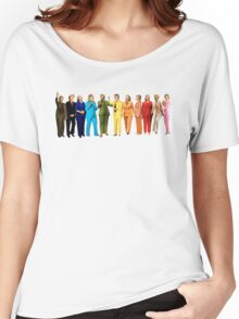 Hilary's Rainbow Pantsuits  Women's Relaxed Fit T-Shirt