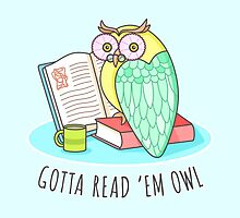 Reading Owl by sombrasblancas