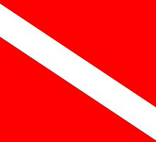 Diver Down Flag by BailoutIsland