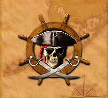 Jolly Roger Pirate Wheel by BailoutIsland