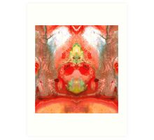 Om - Red Meditation - Abstract Art By Sharon Cummings Art Print