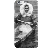 BW USA Alaska eskimo and his kayak 1970s iPhone Case/Skin