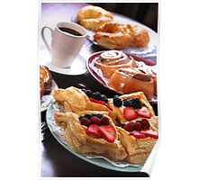 Pastries and Coffee Poster