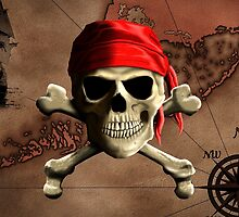 The Jolly Roger Pirate Map by BailoutIsland