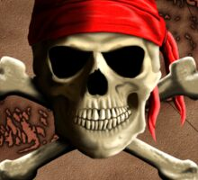 The Jolly Roger Pirate Map Sticker