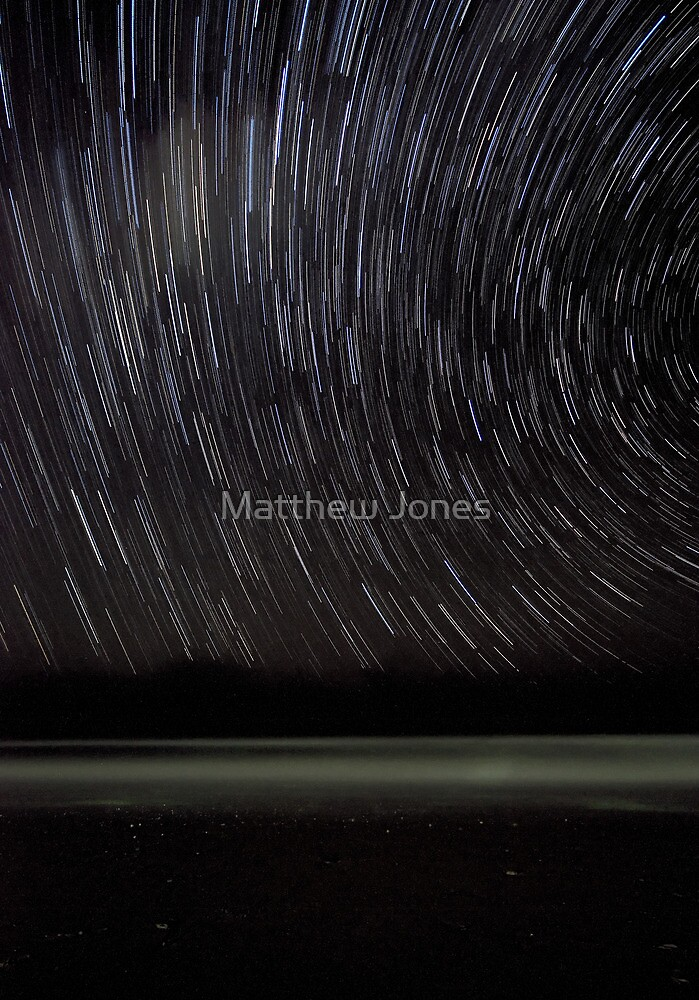 The Star Trail Experience - Old Bar Beach Australia by Matthew Jones