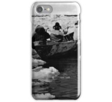 BW USA Alaska Eskimo hunters 1970s iPhone Case/Skin