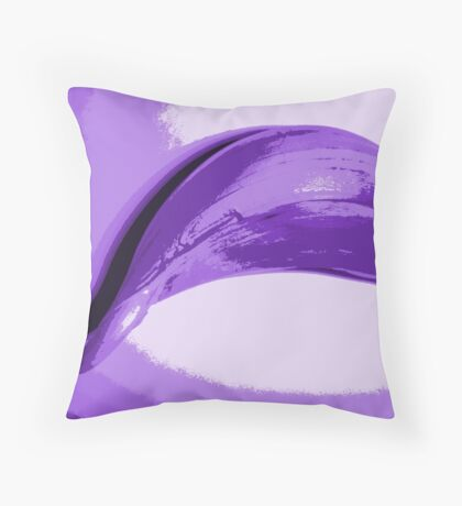 Unlikely Purple #5 Throw Pillow