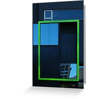 Windows, framed Greeting Card