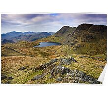 The Langdale Pikes - Cumbrian Lake District Poster