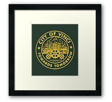 True Detective - City of Vinci logo or Framed Print