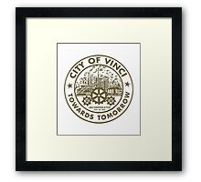True Detective - City of Vinci logo bl Framed Print