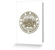 True Detective - City of Vinci logo bl Greeting Card