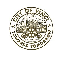 True Detective - City of Vinci logo bl Photographic Print
