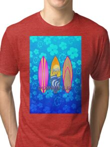 Born To Surf Blue Honu Tri-blend T-Shirt