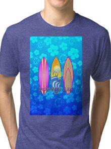 Born To Surf Blue Honu Tri-blend T-Shirt