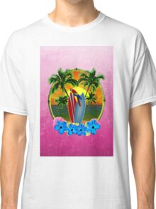 Tropical Sunset Pink Classic T-Shirt
