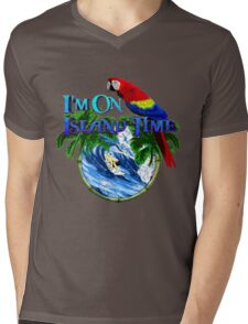 Island Time Surfing Mens V-Neck T-Shirt