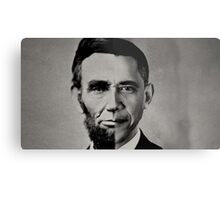 President Obama Meets President Lincoln Metal Print