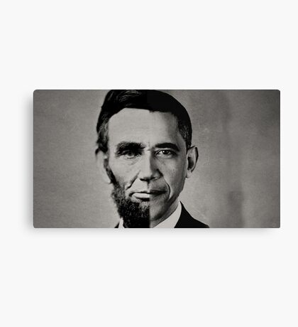 President Obama Meets President Lincoln Canvas Print
