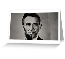 President Obama Meets President Lincoln Greeting Card