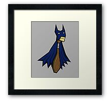 the bat man Framed Print