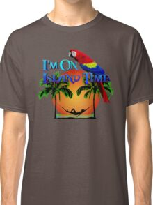 Island Time And Parrot Classic T-Shirt