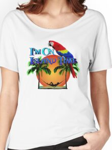 Island Time And Parrot Women's Relaxed Fit T-Shirt