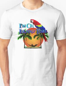 Island Time And Parrot Unisex T-Shirt