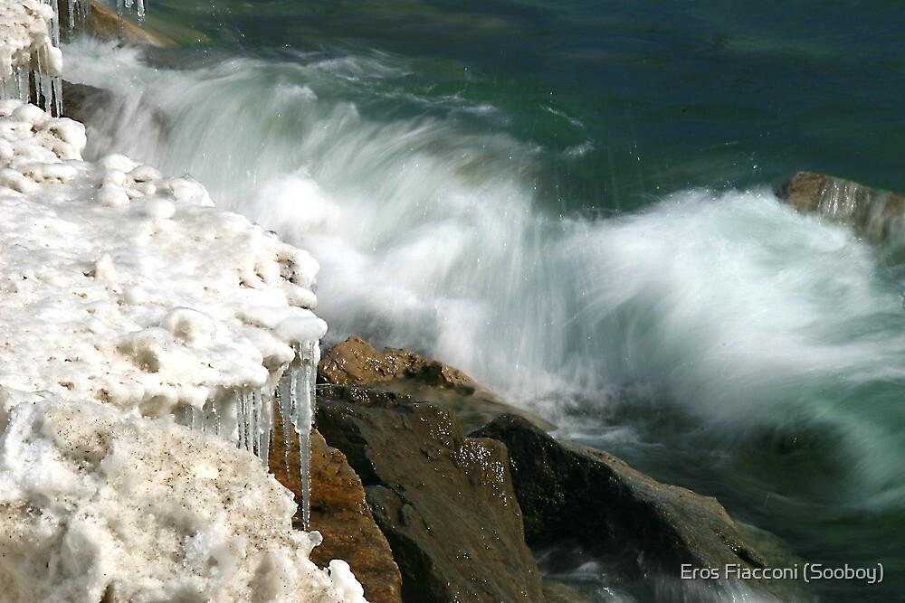 Icicles and waves Ashbridges Bay Park, Toronto, Lake Ontario by Eros Fiacconi (Sooboy)