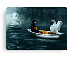 """""""In Santa Pace"""" (Maiden) Canvas Print"""