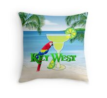 Key West Margarita Throw Pillow
