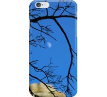 Moon behind branches. Chiricahua Mountains, Arizona, USA. iPhone Case/Skin