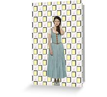 Belle French / Belle Gold Book And Cup Design (OUAT) Greeting Card