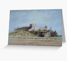 Bamburgh Castle, Northumberland, England Greeting Card